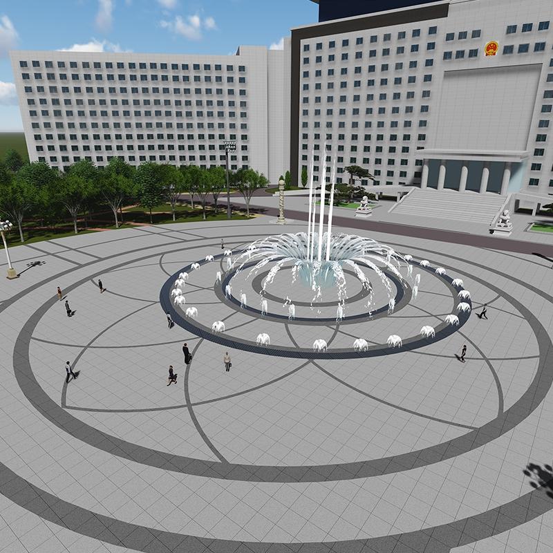 绥化市政府改造——政府广场