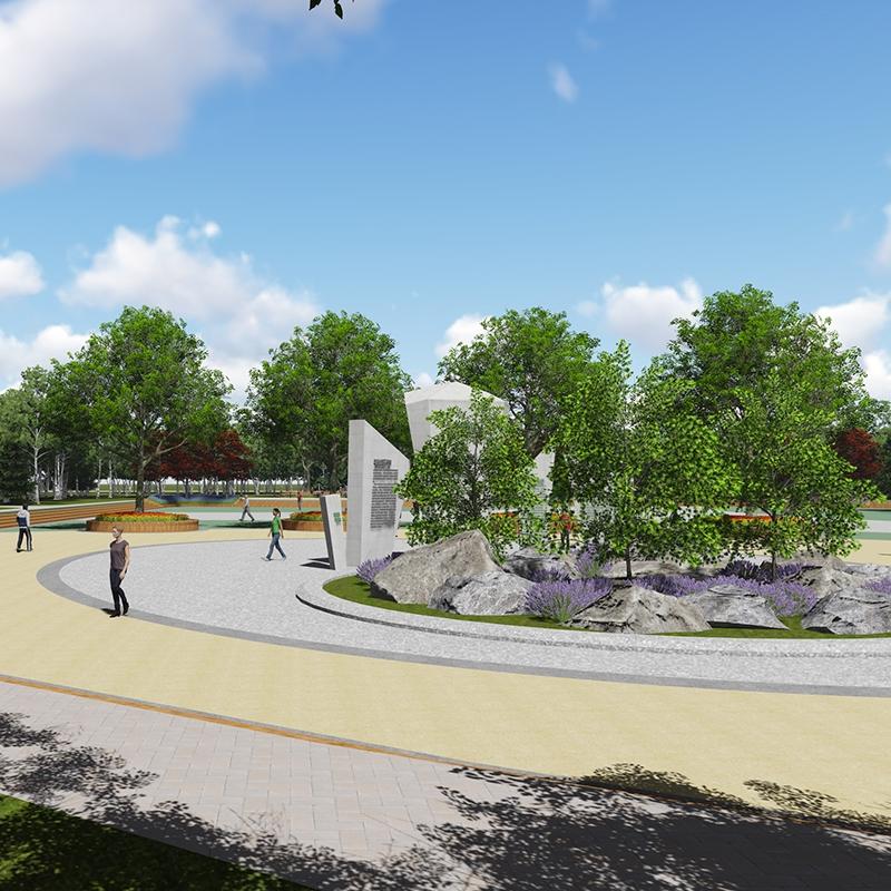 绥化市政府改造—植物园